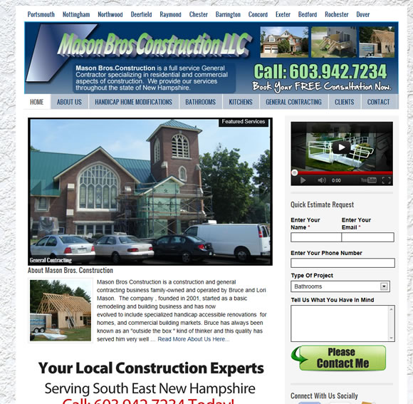 Mason Bros Construction | New Hampshire Remodeling Contractor