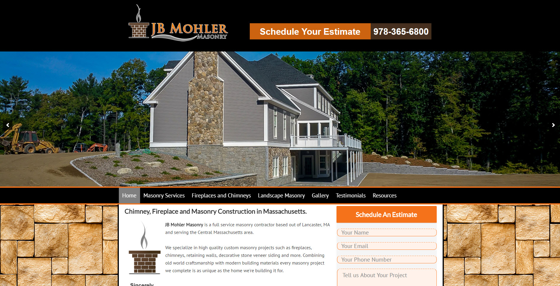 website design for contractors com masonry website jbmohler masonry contractor
