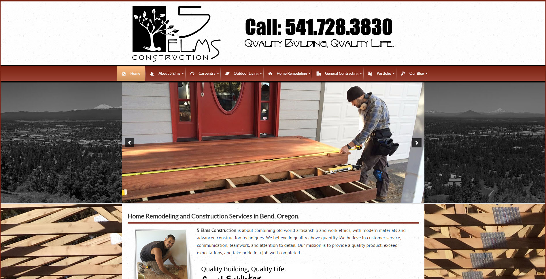 website design for contractors sites4contractors com remodeling contractor website 5elms remodeling website