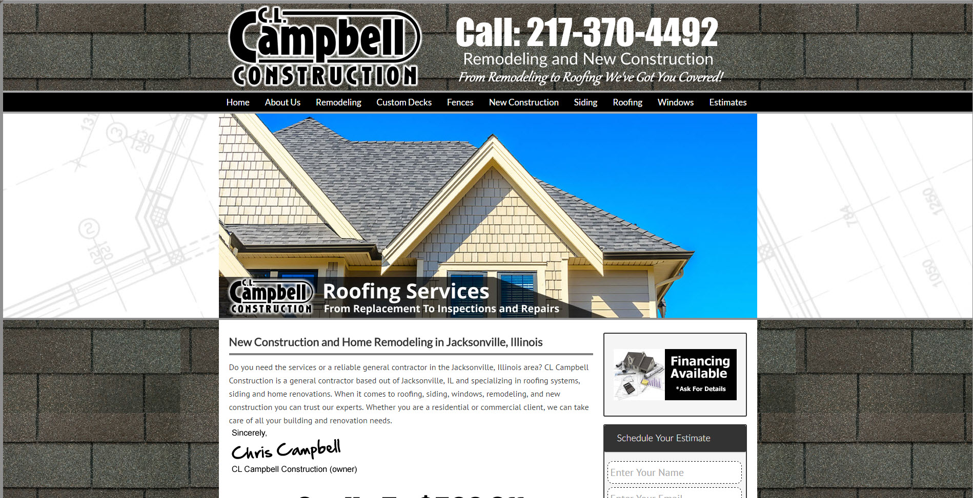 Roofing Website Campbell   Roofing Contractor