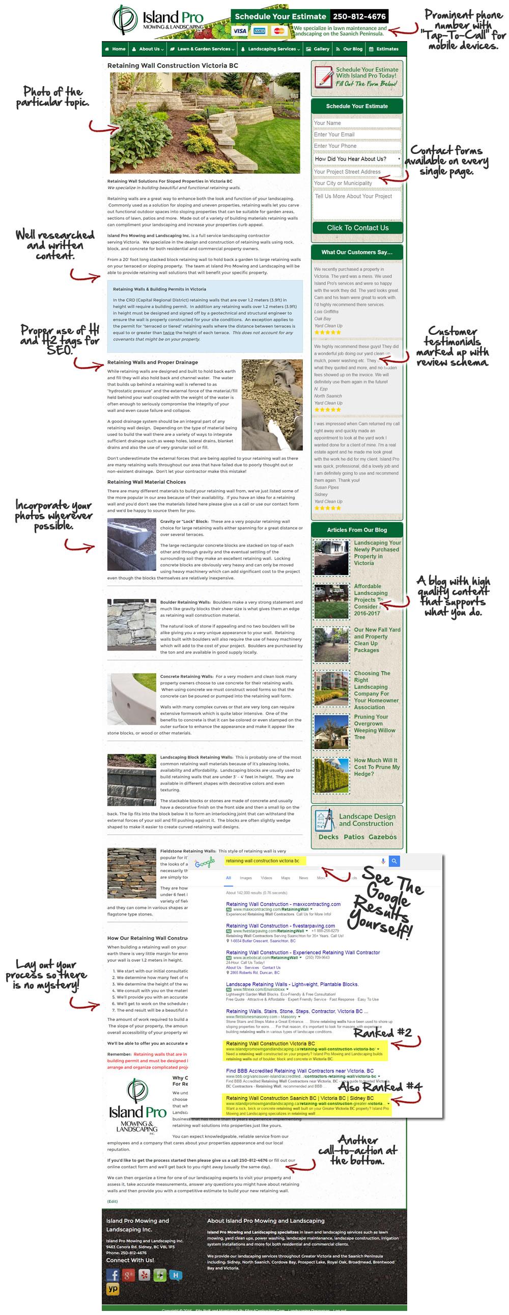 Contractor Website Content