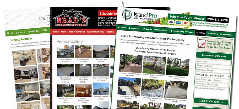 Contractor Website Photo Galleries