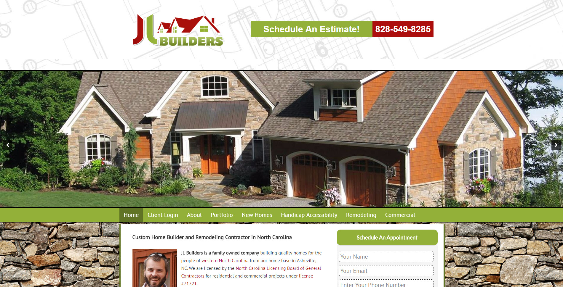 Website design for remodelers plumbers painters and roofers for Home builder contracts