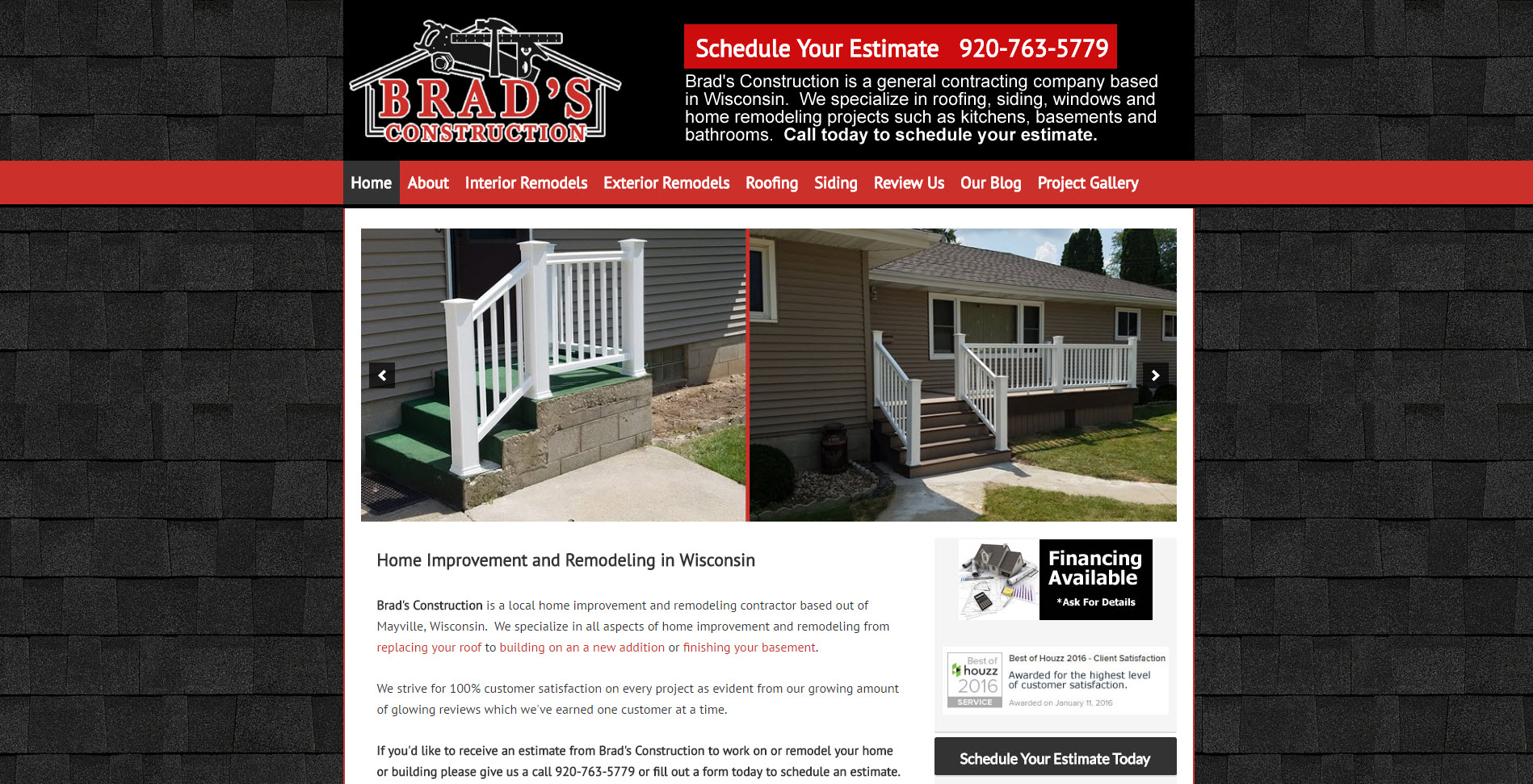 Remodeling Contractor Website Brads   Remodeling Website