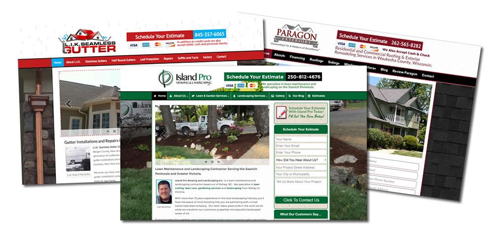 Contractor Website Design Site Examples