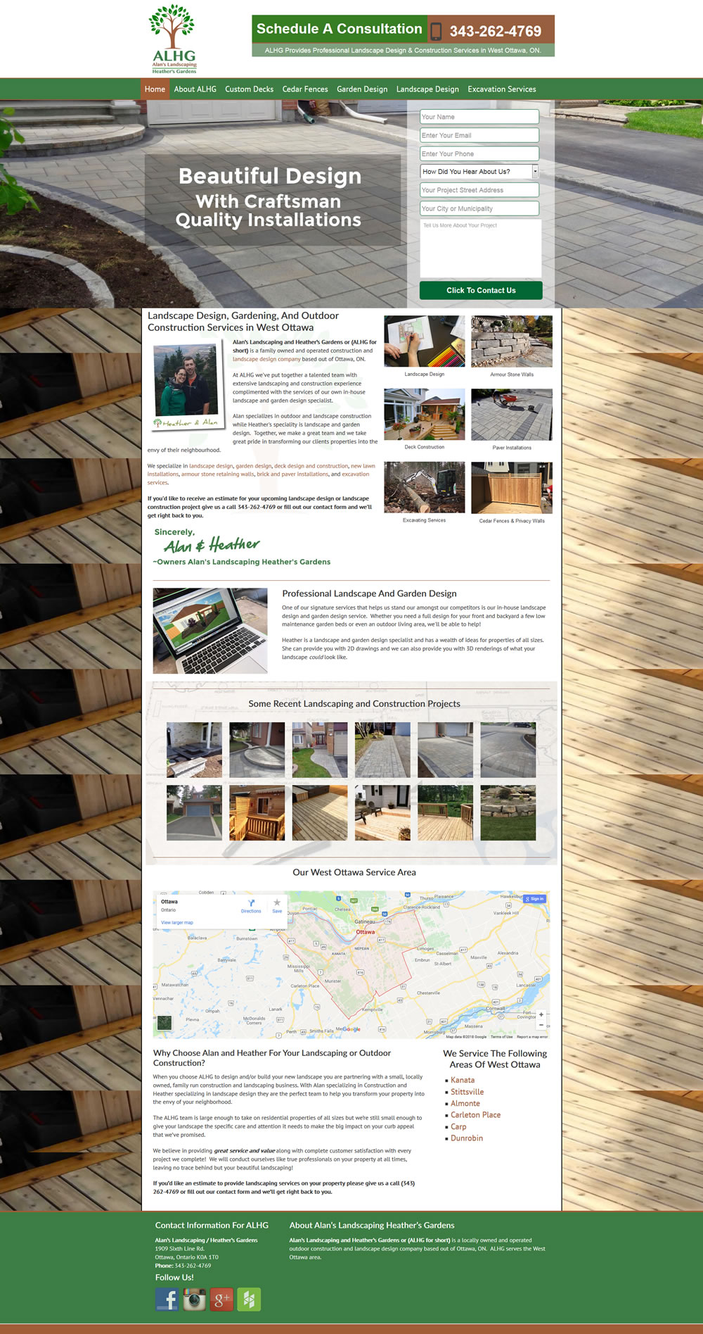 Website Design For Landscape Contractors