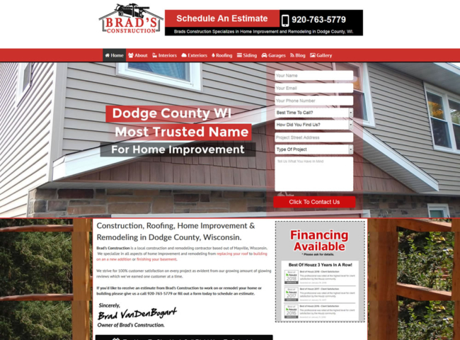 Website Design For General Contractors