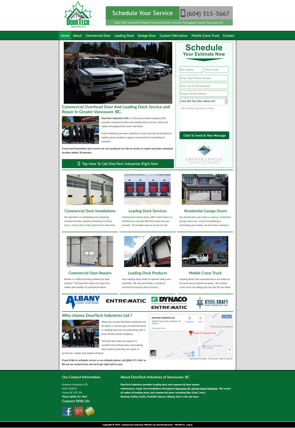 Website Design For Commercial Door Companies