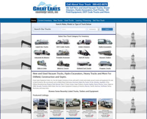 Website Design Case Study For Heavy Equipment Sales.