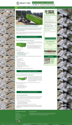 Web Design For Dumpster Rental Companies
