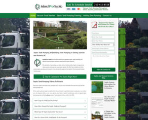 Dumpster Rental and Septic Pumping Company Website Case Study.