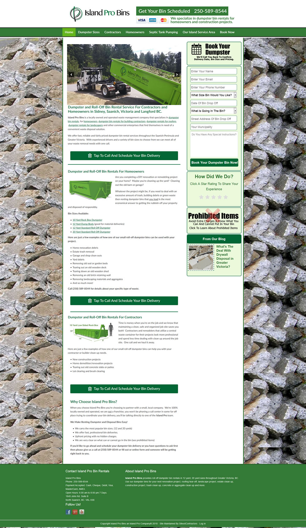 Web Design For Dumpster Rental Companies