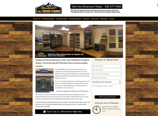Website Design For Hardwood Flooring Companies