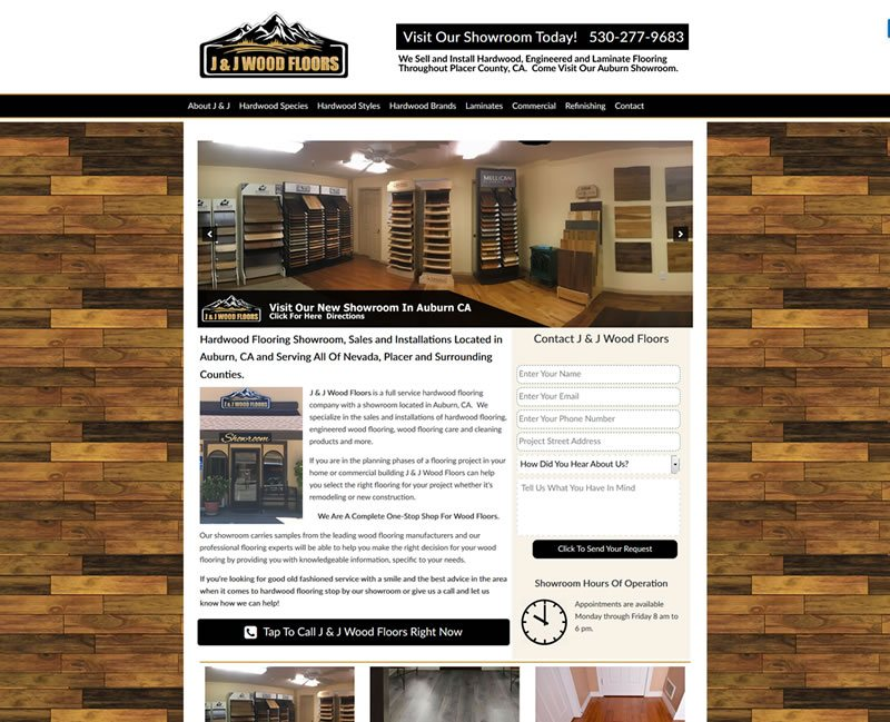 Wood Flooring Website Case Study.