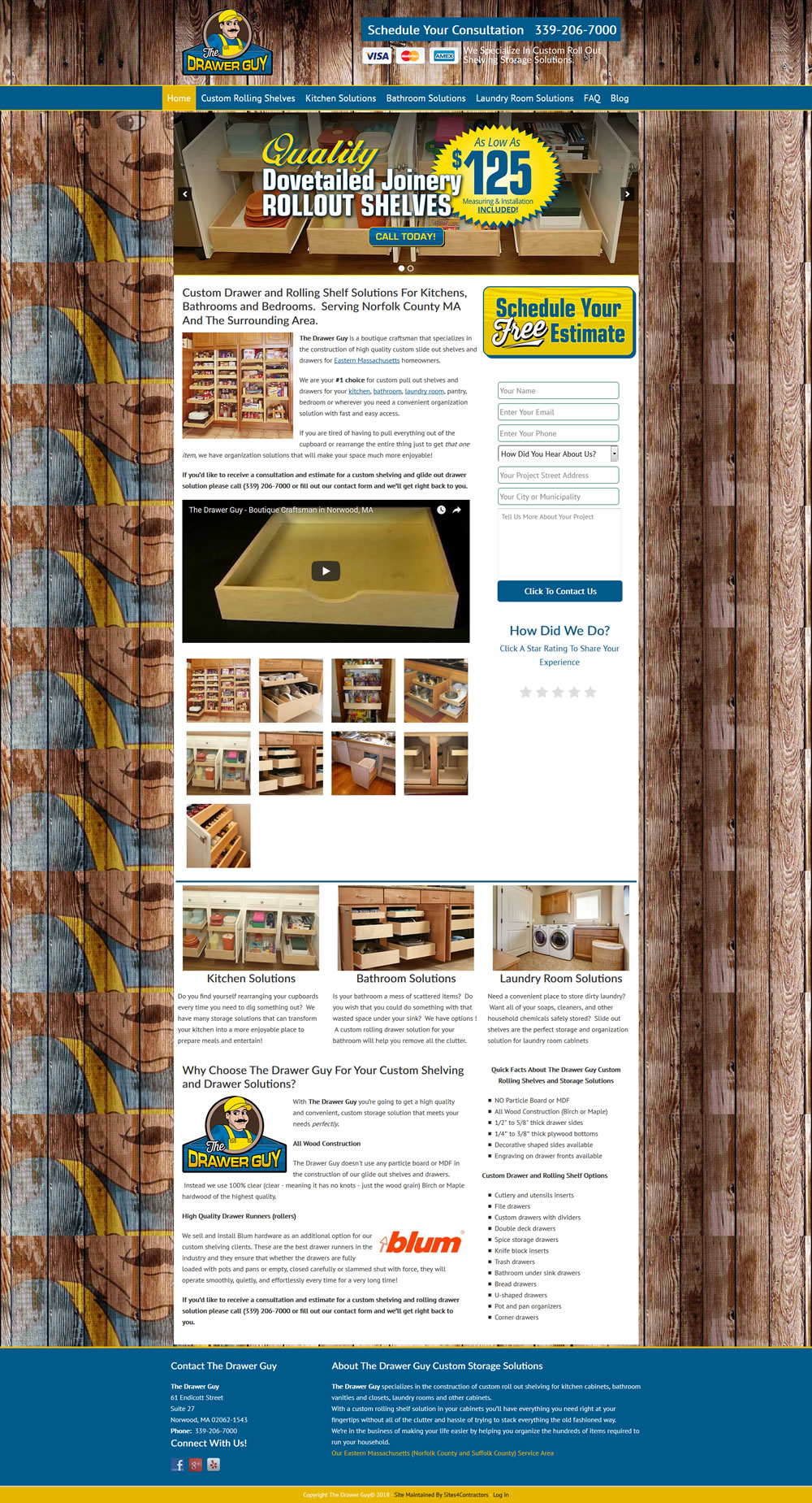 Website Design For Custom Carpentry Contractors