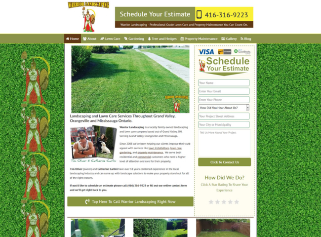 Landscape Company Website Design