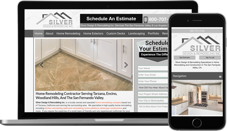 Silver Design & Remodeling Inc. Website