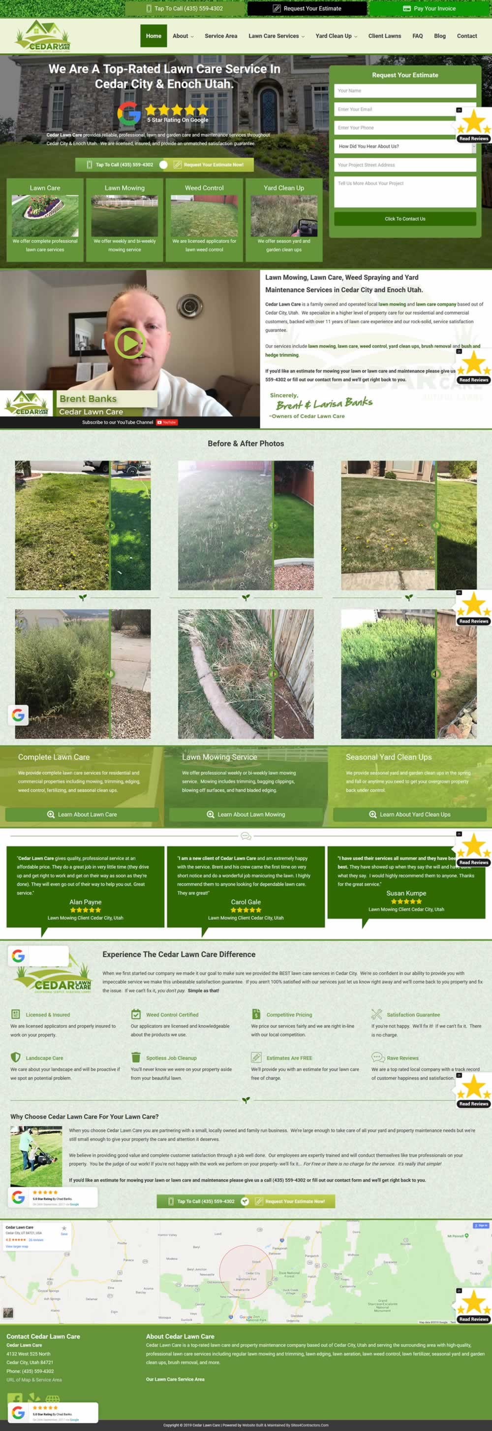 Lawn Care Company Website Design