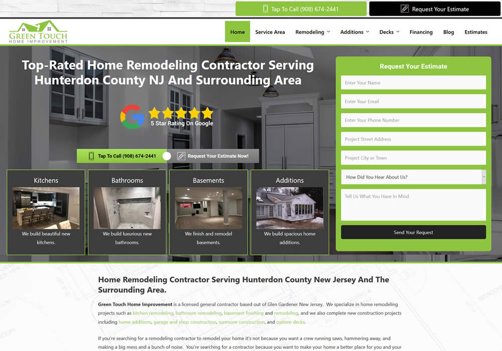 Remodeling Contractor Website Design