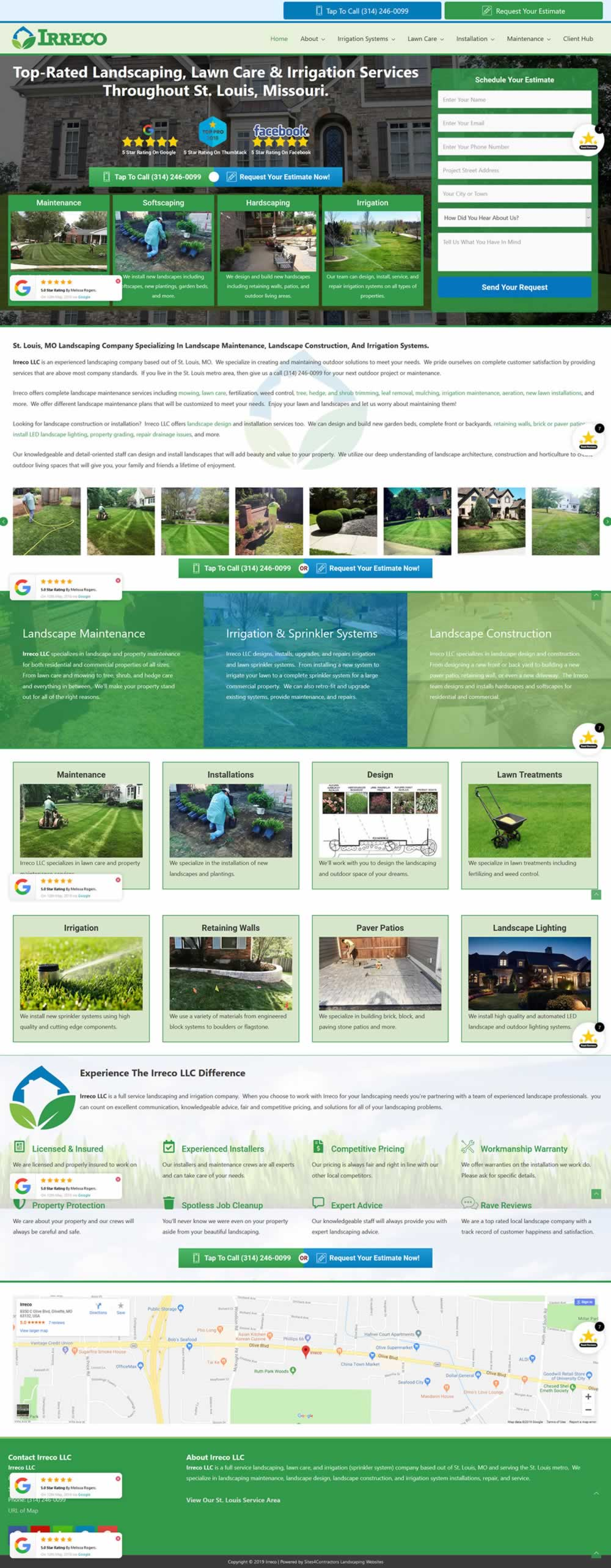 Landscaping Company Website Design