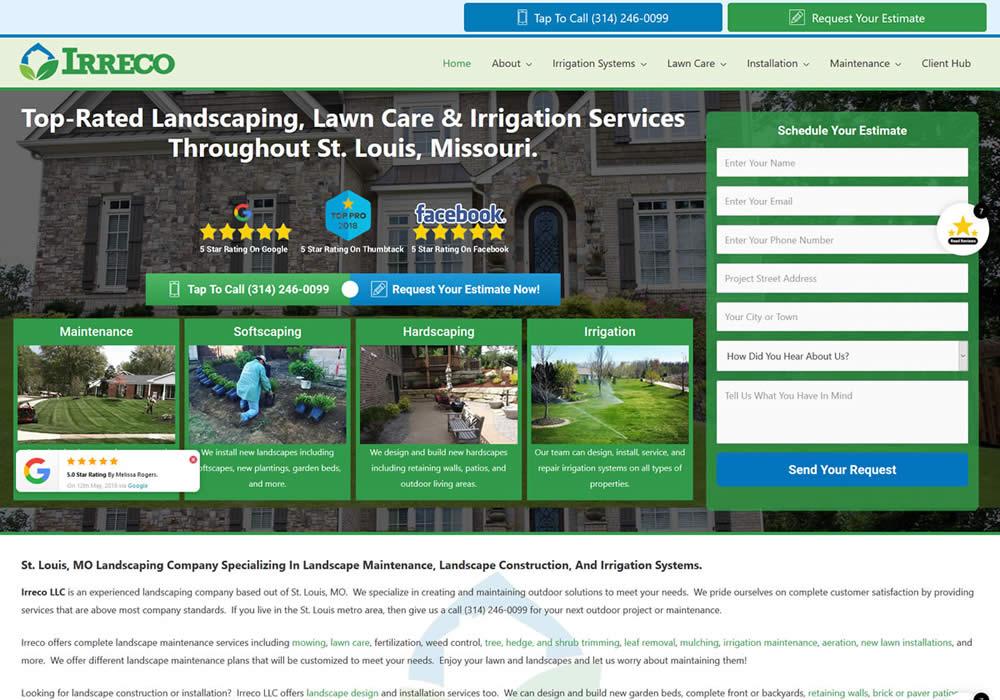 Landscaping Company Website Design
