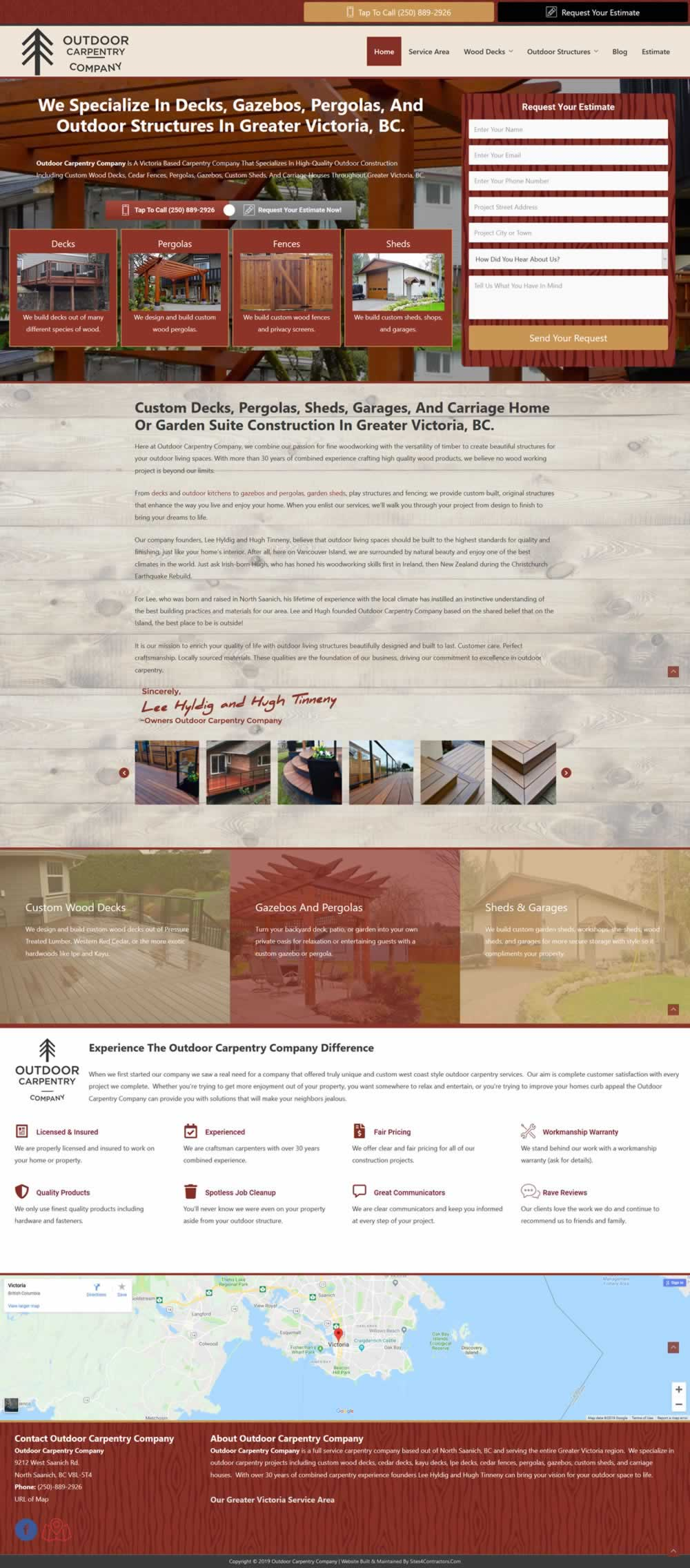 Deck Builder Website Full View