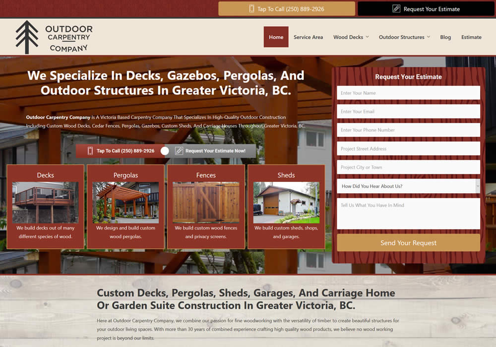Website For Deck Building Company