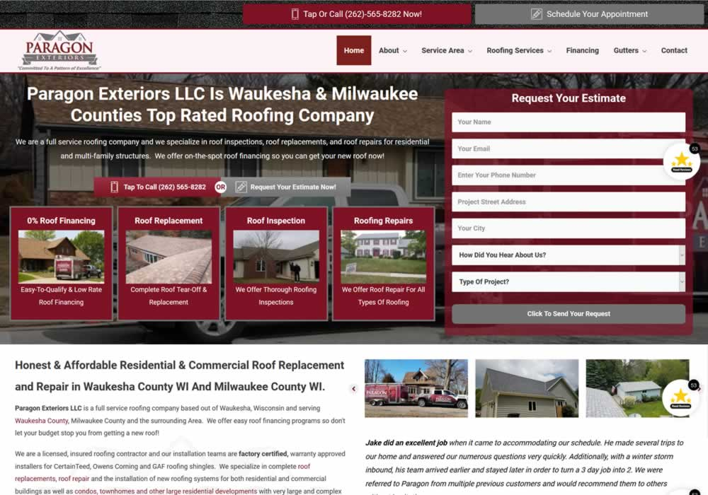 Roofing Contractor Website Design