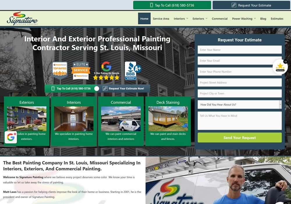 Painting Company Website Design