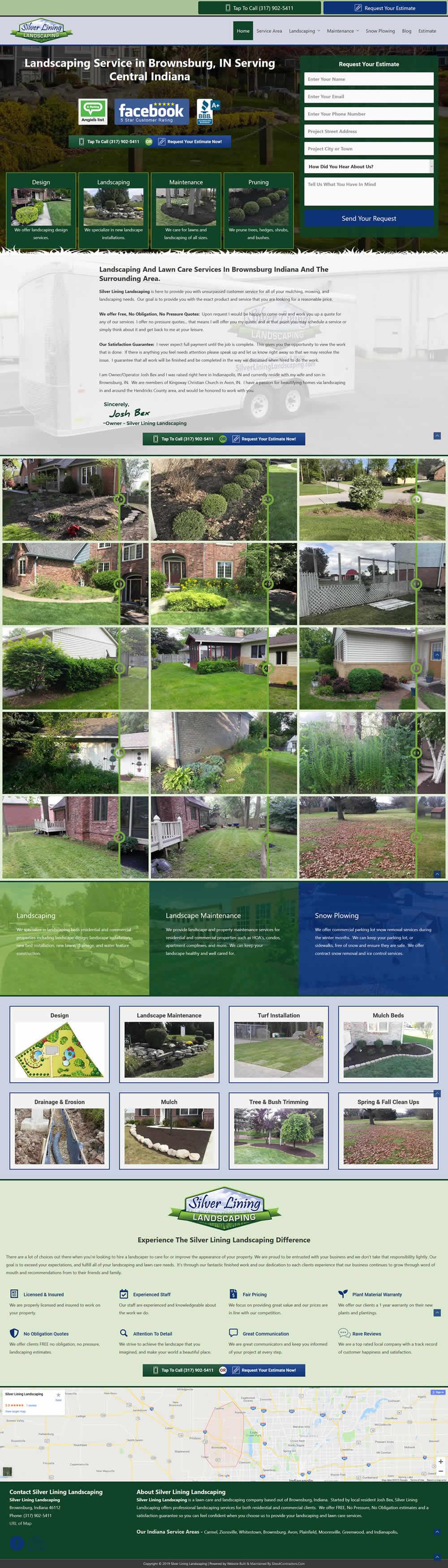 Landscaping Contractor Website