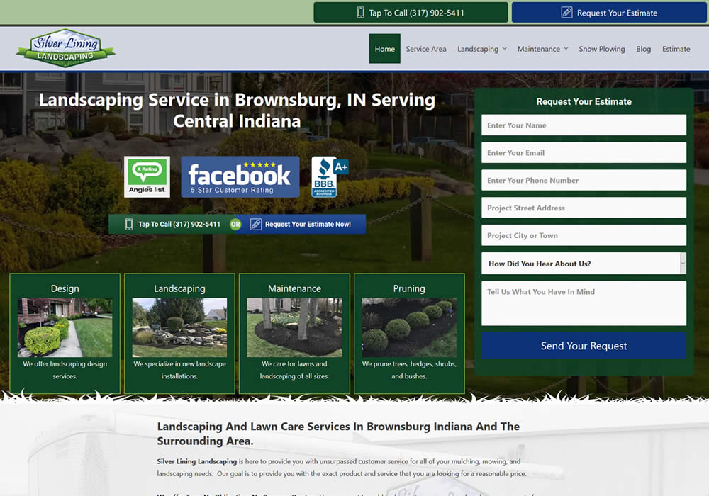 Landscaping Contractor Website Design