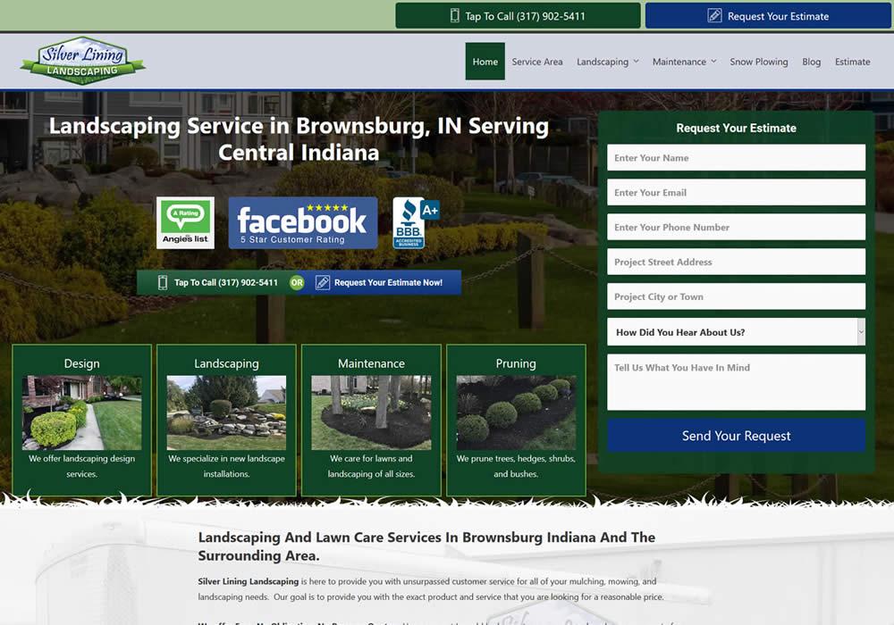 Landscaping Contractor Website Design